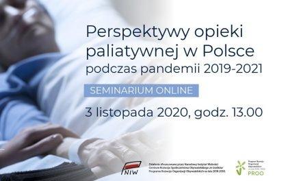 Webinar: Perspektywy opieki paliatywnej w Polsce podczas pandemii 2019-2021